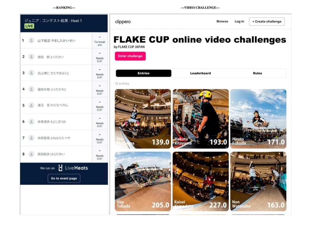 FLAKE CUP omline video challenge