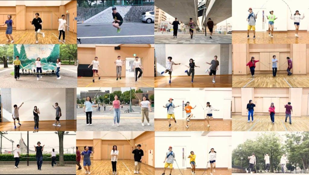 2本の縄を使ったストリートスポーツ「ダブルダッチ」のプレイヤーがリモートで作成!